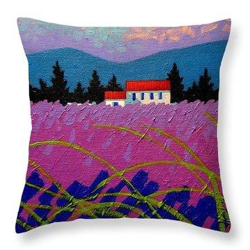 Provence Landscape Throw Pillow by John  Nolan
