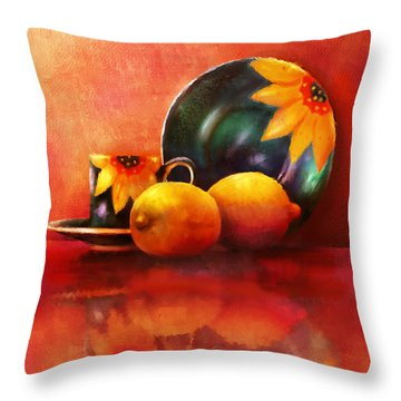 Provence Reflections Throw Pillow