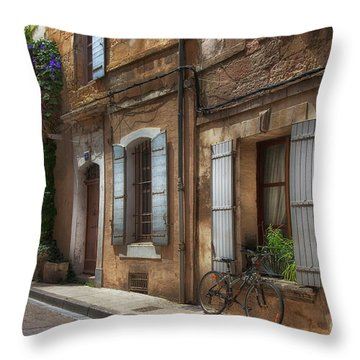 Provence Street Scene Throw Pillow