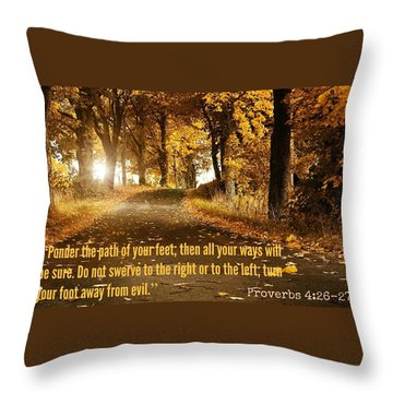 Proverbs104 Throw Pillow