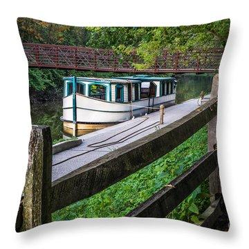 Providence Metropark Erie Canal  Throw Pillow
