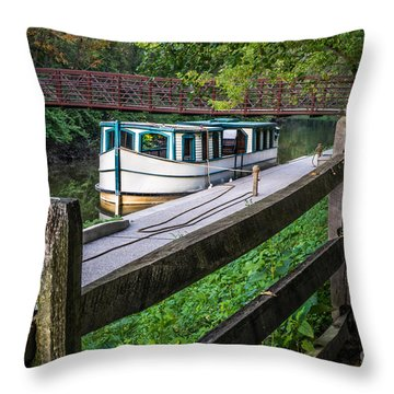 Providence Metropark Erie Canal  Throw Pillow