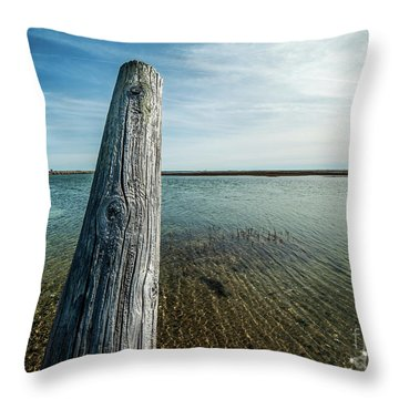 Provincetown Breakwater #2 Throw Pillow