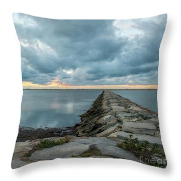 Provincetown Breakwater #3 Throw Pillow