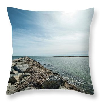 Provincetown Breakwater Throw Pillow