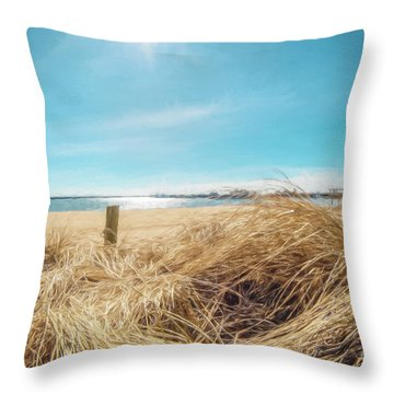 Provincetown Harbor Throw Pillow