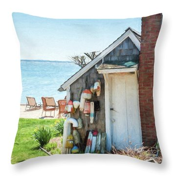 Provincetown Shed Throw Pillow