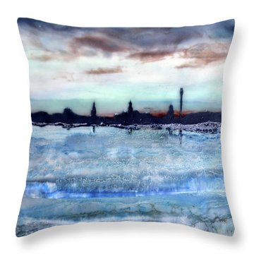 Provincetown Skyline 1 Throw Pillow