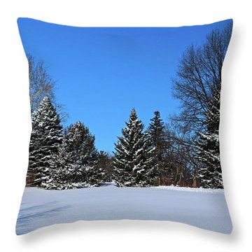 Provincial Pines Throw Pillow