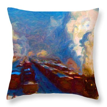 Proviso Classification Yard 1942 Throw Pillow
