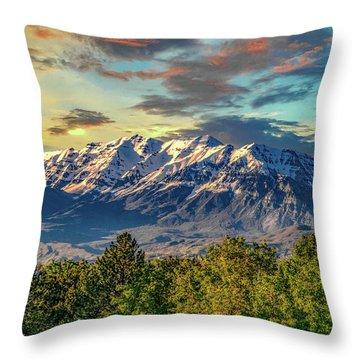 Provo Peaks Throw Pillow