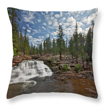 Provo River Falls Throw Pillow