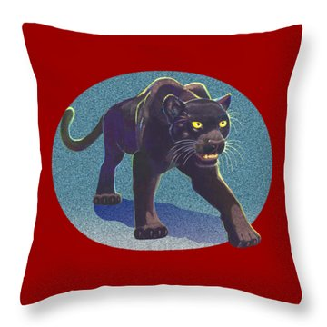 Prowl Throw Pillow by J L Meadows