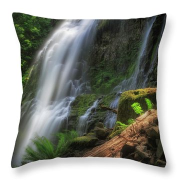 Throw Pillow featuring the photograph Proxy Falls by Cat Connor