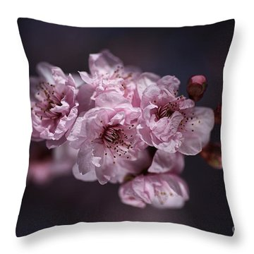Prunus A Pink Spring Throw Pillow