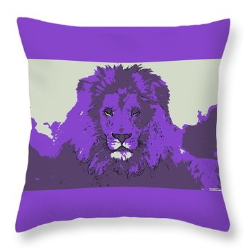 Pruple King Throw Pillow