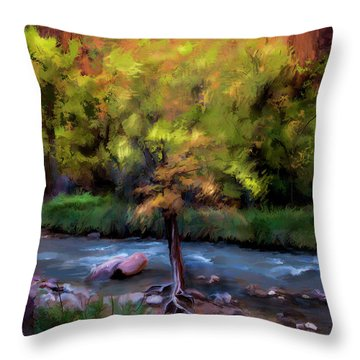 Psalm 1 Throw Pillow by Annette Berglund