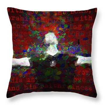 Psalm 100 Throw Pillow