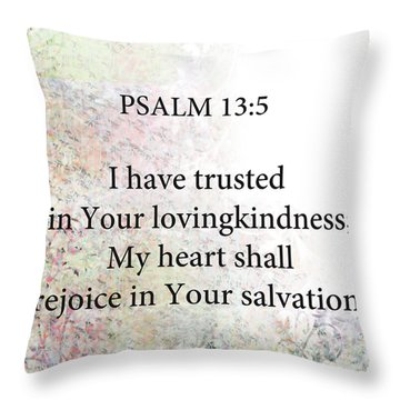 Throw Pillow featuring the digital art Psalm 13 5 by Trilby Cole
