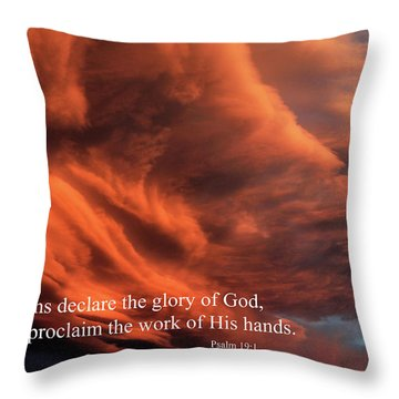 Psalm 19-1 Throw Pillow