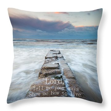 Psalm 25 4 Throw Pillow