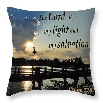 Psalm 27 Throw Pillow by Bob Sample