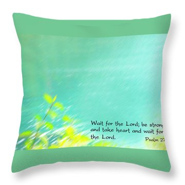 Psalm 27 Throw Pillow
