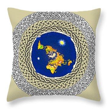 Psalm 37 Flat Earth Throw Pillow