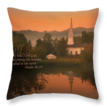 Psalm 46.10 Throw Pillow