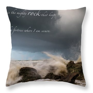 Psalm 62 2 Throw Pillow
