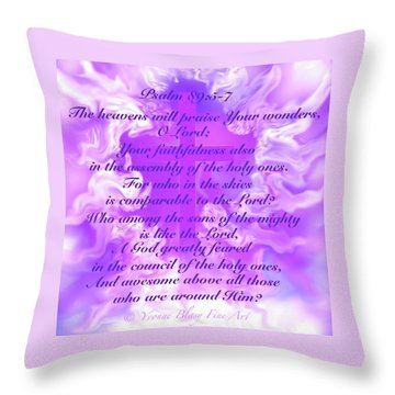 Psalm Eighty Nine Selected Verses Throw Pillow