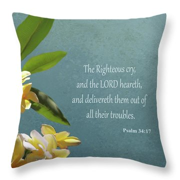 Psalms 01 Throw Pillow