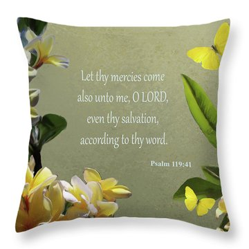 Psalms 02 Throw Pillow