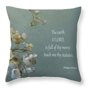 Psalms 03 Throw Pillow