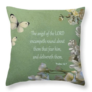 Psalms 04 Throw Pillow