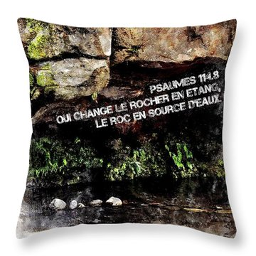 Psaumes 114 Throw Pillow