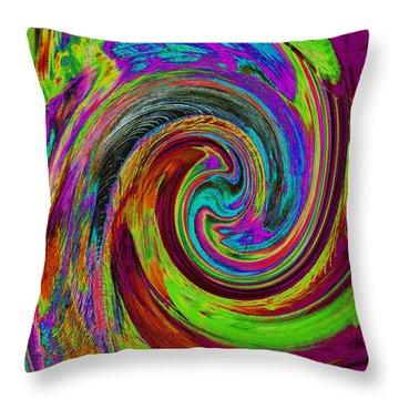 Pscholdelic Surfs Up Throw Pillow by Wayne Potrafka