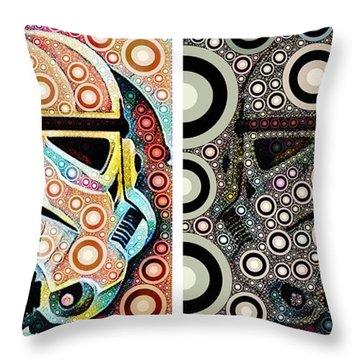 Psychedelic Binom Throw Pillow