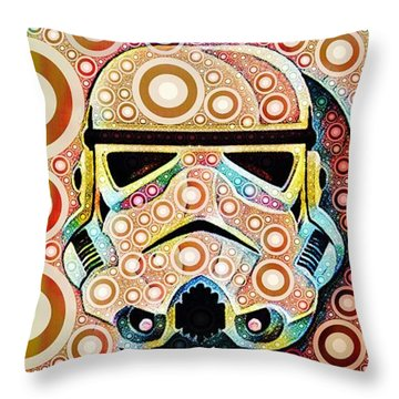 Psychedelic Binom Throw Pillow