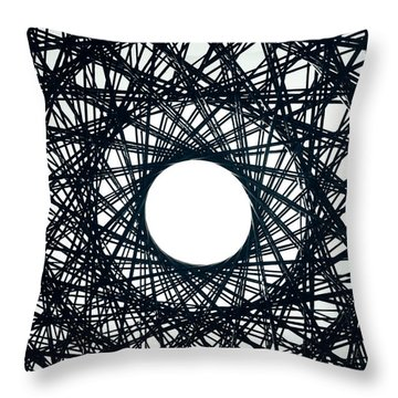 Psychedelic Concentric Circle Throw Pillow