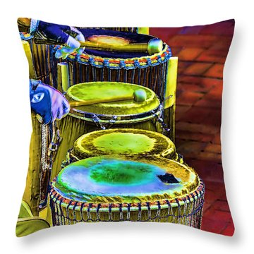 Psychedelic Drums Throw Pillow