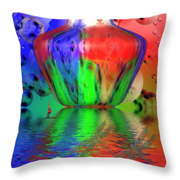 Throw Pillow featuring the photograph Psychedelic Flight by Joyce Dickens