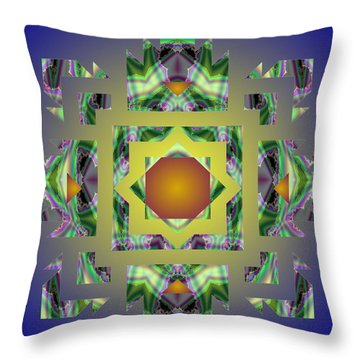 Psychedelic Mandala 002 A Throw Pillow