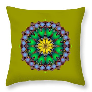 Psychedelic Mandala 003 A Throw Pillow