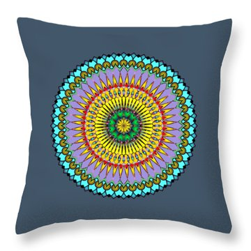 Psychedelic Mandala 005 A Throw Pillow