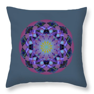 Psychedelic Mandala 006 A Throw Pillow