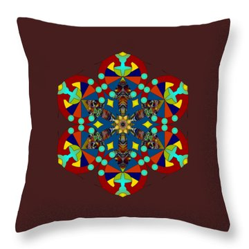 Psychedelic Mandala 007 A Throw Pillow