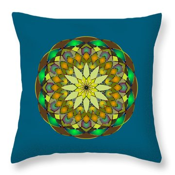 Psychedelic Mandala 008 A Throw Pillow