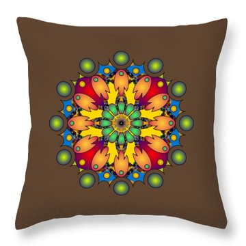 Psychedelic Mandala 009 A Throw Pillow
