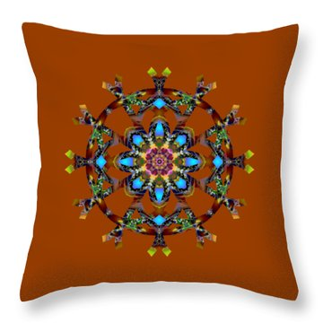 Psychedelic Mandala 010 A Throw Pillow